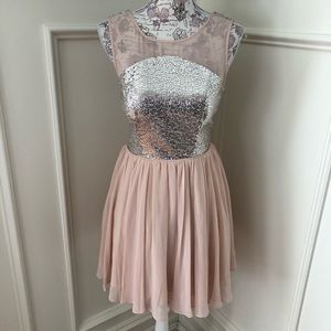 Sequined Junior's Dress